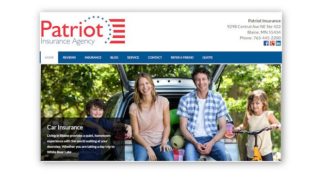Patriot Insurance's New Website