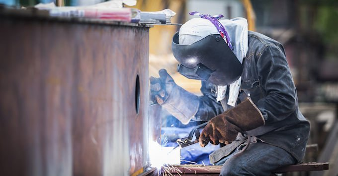Welder at a Manufacturing Plant
